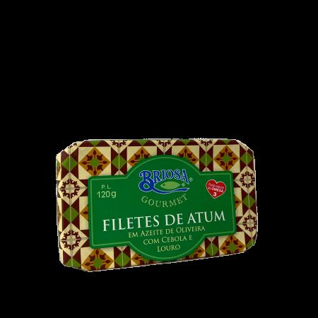 filetes atum azeite cebola louro briosa